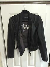 Andrew Marc Lambskin Leather Jacket Size Small