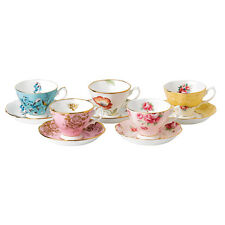 Royal Albert 100 Years Teaware 10 Piece Set Cup & Saucer 1950-1990 - LAST ONE!