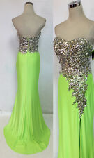 Cassandra Stone MacDuggal 85152A Neon Lime Gown 12