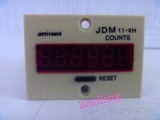 JDM11-6H Resettable 0-999999 LED Display Panel Digital Counter Cumulative AC220V