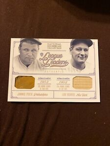 Jimmie Foxx Lou Gehrig 2012 National treasures glove bat #1/25