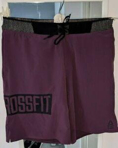 Reebok SpeedWick Crossfit Shorts Mens Medium - Purple/Burgandy