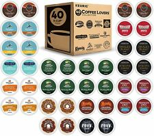 KEURIG COFFEE LOVER'S COLLECTION VARIETY PACK SINGLE SERVE K-CUP PODS 40 COUNT