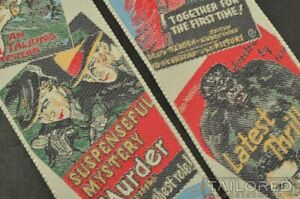 TRAFALGAR Limited Edition VINTAGE MOVIE POSTERS Silk Braces Suspenders RARE