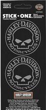 Nuevo GENUINA Harley Davidson Willie G cráneo HD Logo Mini Calcomanía Doble Hoja Pegatina