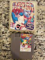 Krusty's Fun House (Nintendo Entertainment System NES) Cart Only FAIR FREE SHIP