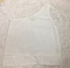 Anthropologie Cloth & Stone One Shoulder White Eyelet Tank Top Shirt Sz M New