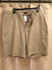 Adidas Golf Shorts Mens Size 40 Tan Chino Flat Front