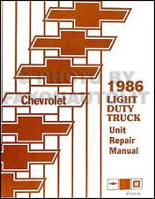 1986 Chevy Truck Engine Transmission Overhaul Manual Pickup Blazer CK S10 Van