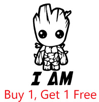 ~*~ 2 I AM GROOT Guardians of the Galaxy Vinyl Decal Sticker Walls, Glass, YETI