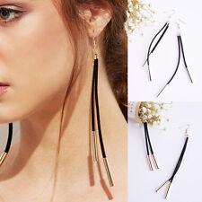 Drop Earrings Jewelry Long leather Velvet Ribbon Tassel Dangling Statement Pop
