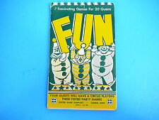 Rare VINTAGE 1946 Fun Series 1 No 300  Leister Game Co Book 7 Games for 20 Guest