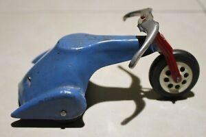 """Vintage Pressed Steel Toy Tricycle~5"""" Long (Marx or Wyandotte?)"""