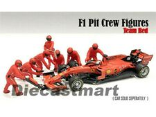 American Diorama 1:43 / 1:18 Formula One F1 7 Pit Crew Set Team Red For Ferrari