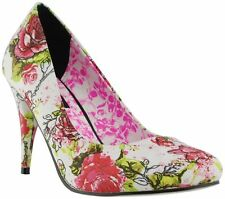 High (3 in. and Up) Heel Clubwear Floral Shoes for Women
