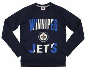 Outerstuff NHL Youth/Kids Winnipeg Jets Performance Fleece Crew Neck Sweatshirt