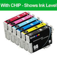 6PKs Remanufactured 98 99 Ink Cartridges For Epson Artisan 730 800 810 835 837