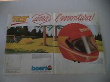 advertising Pubblicità 1984 CASCO HELMET BOERI TEST