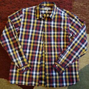 Jack Spade Shirt Bleecker Street NY Mens Size XL Button Down Plaid Long Sleeve