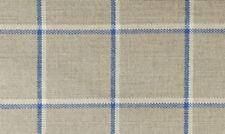 Curtains - Ian Mankin - Skye Check Indigo - Pencil Pleat, Eyelet, Tab Top