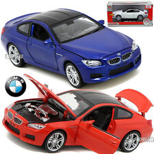 BMW M6 1:32 Alloy Diecast Model Car 6 Inch Sound&Light Toys &Collection Blue Red