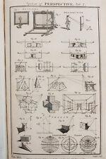 1788 Antique Print - Copper Plate Engraving, Mathematics, Art, Perspective (1)