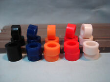 10 PAIR SILICONE COLORED TIRES FITS AURORA SPECIALTY - AUTO WORLD 4 GEAR LOT #8