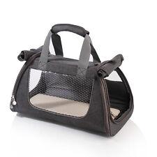 Small Gray Soft Sided Cat Dog Pet Carrier Travel Handbag Tote Shoulder Bag 39