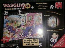 Wasgij Original Jigsaw Puzzle No 21 Football Fever 2x 1000 Game Xmas Gift NEW