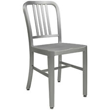ALUMINUM 1940s 'NAVY' STYLE DINING CHAIR ANODIZED FINISH IN/OUTDOOR  ONLY 8 LBS!