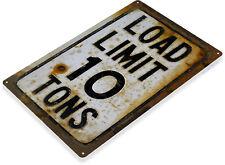 TIN SIGN 10 Tons Rusty Rustic Street Road Sign A195