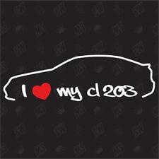 Amo mio CL203 - Adesivo, Mercedes classe-C, Adesivi Auto, Sportcoupe