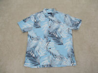 Tommy Bahama Button Up Shirt Adult Small Blue Gray Floral Silk Camp Mens B15