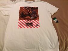 Nike Men Swoosh Go All Out Running White T-Shirt - 816948 - XL - NWT