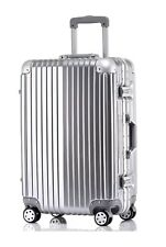 """New 20"""" Aluminum Frame Waterproof Carry On Silver Luggage Case Similar to Rimowa"""