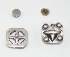 2 Enzianblüten Metall Applikationen Zierteile Trachten 05.33//368