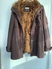 Odd Molly Women's Parka Coat Faux Fur Lining Size 2 Uk M.