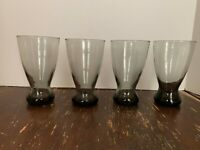 Vintage Mid Century Libbey Smoke Gray Pilsner Beer Glass 14 Ounce Set of 4