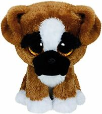 """TY BRUTUS THE BOXER  DOG BEANIE BOO 6"""" SOFT TOY PLUSH 36 MONTHS+ WITH HEART TAG"""