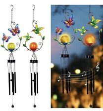 Maggift 2 pack Solar Outdoor Windchimes .With LED center Crystal Ball