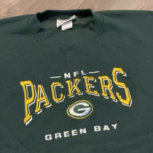 Green Bay Packers Sweatshirt Mens XL Green NFL Football Vintage 90s Pullover USA
