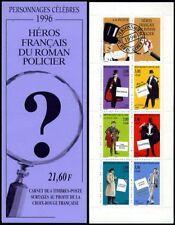 Bande Carnet BC3031 - Héros français du roman policier - 1996