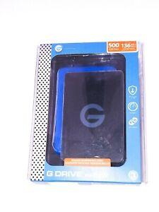 G-Technology 500GB G-DRIVE ev RaW USB 3.1 with Rugged Bumper