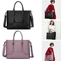 Women Leather Briefcase Work Office OL Shoulder Bag Handbag  15.6'' Laptop Large