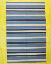 5x8 Traditional Afghan Wool Long Kilim Rug Striped Home Décor Hand Woven