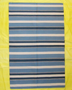 Hand Woven Striped Home Décor 5x8 Ft Traditional Afghan Wool Long Kilim Rug