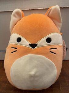 "Squishmallows 8"" James The Orange Fox Plush Animal Single Ply Tag"