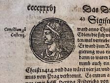 Incunabula Folio 1500s - Sigismund, Holy Roman Emperor
