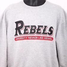UNLV Rebels Sweatshirt Vintage 80s 90s Crew Neck Made In USA Las Vegas Large