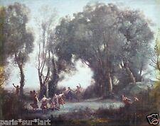 Jean-Baptiste COROT (1796-1875) Oeuvre / toile Une matinée, la danse des Nymphes